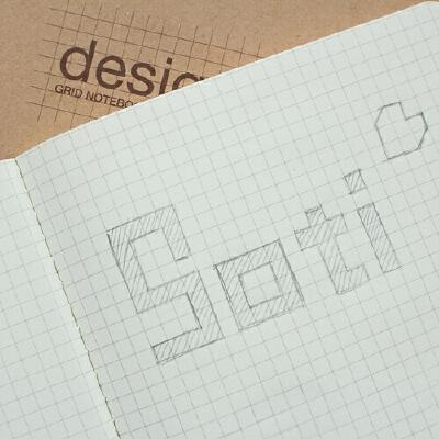 baoli笔记本 记事本 diy创意网格本方格本工程绘图纸理工科牛皮纸笔记本