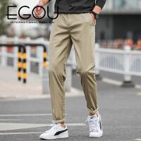 EGOU基础商务休闲职业裤装男式西裤休闲直筒男士休闲男裤