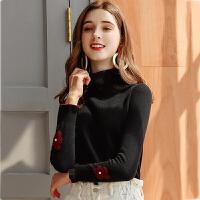 毛衣 女士纯色高领毛衣2020秋冬新款女式时尚保暖舒适打底针织衫
