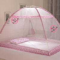 婴儿床蚊帐宝宝纹帐无底可折叠式新生bb小孩加密防蚊蒙古包罩