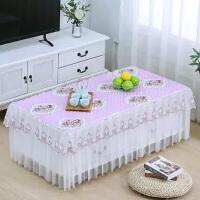 桌布茶几罩餐桌布艺长方形客厅加厚防滑茶几套床头柜罩茶几垫
