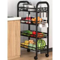 厨房置物架落地多层蔬菜篮可移动小推车家用卧室储物浴室收纳架子