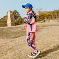 女童运动套装春装时尚儿童中大童女孩春两件套