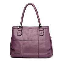 女士包包新款潮时尚女包编织手提包百搭中年软皮单肩包斜挎包