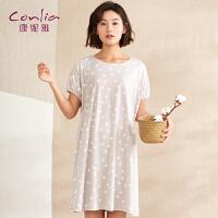【便服】康妮雅家居服睡裙女士夏季薄款甜美可爱宽松舒适居家裙