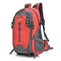 新款男士登山双肩包男休闲旅行背包女韩版潮休闲电脑包户外旅游包 红色