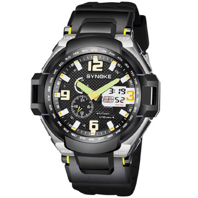 男士双显夜光防水电子表运动时尚表登山户外潮男女学生手表