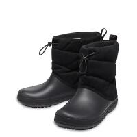 Crocs卡骆驰2019新款女鞋冬泡芙暖靴保暖中筒雪地平底棉靴I205858女士泡芙暖靴