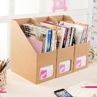 畸良韩国DIY牛皮纸 桌面收纳盒桌面整理盒 大号文件收纳盒