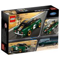 【当当自营】LEGO乐高积木超级赛车系列75884 7-14岁1968款福特野马