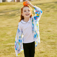 【2件3折到手价:93】小猪班纳童装女童连帽外套2020夏季新款儿童皮肤衣休闲薄款拉链衫