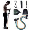 健身男力量训练套装扩胸拉力器健身器材弹力带家用女弹力绳皮筋运动器材拉力绳