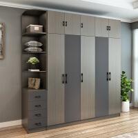 20190720061915946北欧衣柜简约现代经济型组装三四门卧室柜子实木质整体简易大衣橱