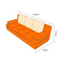 真皮沙发小户型组合简约现代客厅三人位沙发经济型清仓 组合