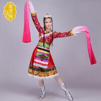 新款民族舞蹈服装新款水袖藏族舞蹈演出服装藏袍表演服饰女舞台装