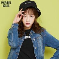 森马牛仔外套女2017秋季新款短款长袖新款牛仔上衣韩版学生夹克衫