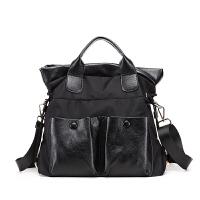 时尚女包新款简约百搭尼龙牛津布手提包单肩斜挎包大包大容量 优雅黑