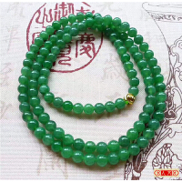 缅甸正品 天然A货翡翠 精雕好种特色满绿项链【JCB1000-0034】