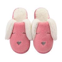 家居拖鞋兔子棉拖鞋女士可爱个性室内女式保暖加厚毛毛绒女生