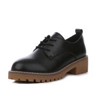 冬季保暖加绒英伦风马丁靴女复古低帮平跟加厚小白鞋