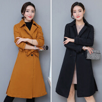风衣女中长款2018秋冬新款时尚气质修身系带显瘦韩版秋季开衫外套