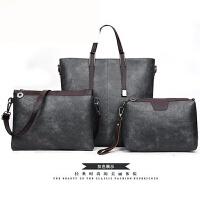 包包女2018新款潮时尚简约百搭斜挎包女士手提包韩版子母包三件套