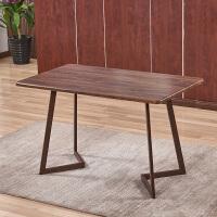 仿实木铁艺Y椅靠背椅子休闲太师椅北欧餐椅简约咖啡厅桌椅组合 木120*60方桌 (单桌不)
