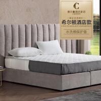 世茂希尔顿授权五星级酒店床垫席梦思保护垫子可水洗双人冬 床单式