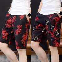男士短裤夏季运动休闲沙滩裤夏天韩版潮流中裤宽松个性薄款五分裤