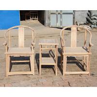 老榆木圈椅八仙椅餐椅白茬家具实木椅太师椅官帽椅新中式椅子 大号圈椅三件套 【运费到付】