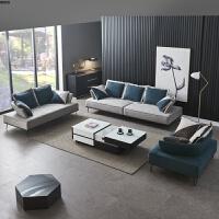 北欧意式极简免洗纳米科技布布艺沙发简约小户型客厅123组合整装 SS912#图片色