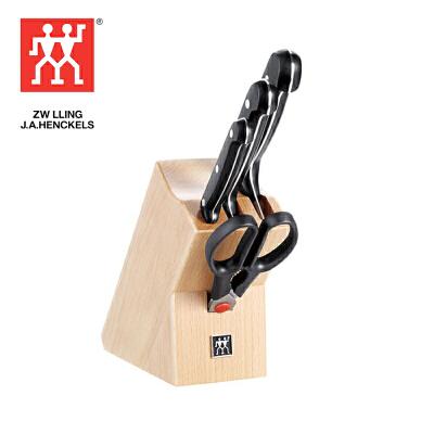 双立人Zwilling TWIN Chef 刀具五件套菜刀多用刀刀架  K25