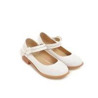 韩版女孩蝴蝶结公主童鞋秋季时尚女童皮鞋中大童高跟单鞋