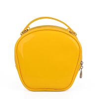 化妆包大容量手提便携大号防水PVC化妆箱包多功能化妆品收纳包旅行洗漱包 黄色