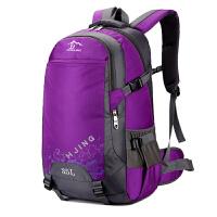 2018新款韩版旅游大容量双肩包背包女士旅行包夏户外登山包潮男轻 紫色