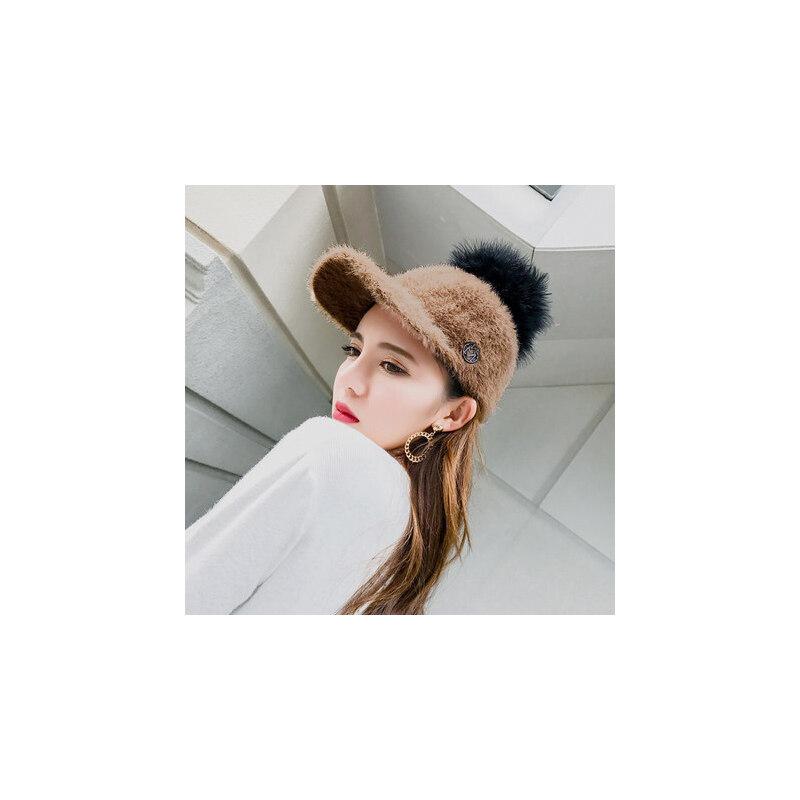 帽子女韩版潮百搭街头潮人韩国毛球鸭舌帽棒球帽