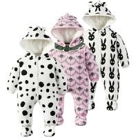 婴儿连体衣服01岁3个月满月新生儿冬装冬季棉衣哈衣季装