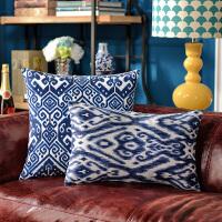 奇居良品 客厅沙发床头方枕腰枕靠垫抱枕套 青花印象系列