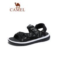 camel骆驼男鞋2019夏季新品时尚迷彩潮流织带凉鞋沙滩减震轻盈防滑鞋子