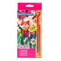 马可4121-12CB 双色水溶彩色铅笔 三角铅笔 双色铅笔 24色 12支