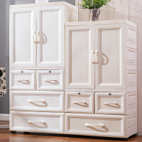 衣柜双开门收纳柜子塑料抽屉式储物柜简易婴儿宝宝衣橱五斗柜