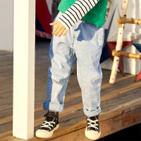 【2件3折价:104】小猪班纳童装男童牛仔裤中大童裤子2020春季新款儿童长裤宽松韩版
