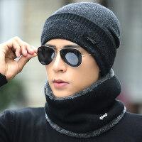 男士帽子保暖针织帽韩版加绒毛线护耳帽男青年套头棉帽