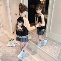 女童外套春装洋气儿童春秋棒球服中大童夹克上衣