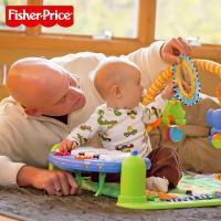 费雪正品健身架脚踏琴多功能音乐钢琴婴儿玩具健身架0-3-6-12个月