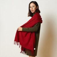 加厚秋冬两用女士围巾 羊毛围巾女冬季长款披肩围巾