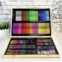 幼儿园251pcs绘画工具大礼盒画笔水彩笔套装文具美术工具木盒装