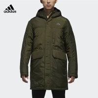 adidas阿迪达斯2018新款男子户外中长款连帽保暖运动风衣外套棉服CZ0624