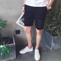 五分裤男士运动休闲短裤潮男裤宽松夏天收口中裤薄款夏季5分马裤