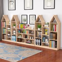 实木书架置物架多层创意小书架简书柜简易落地书架组合 主图一套